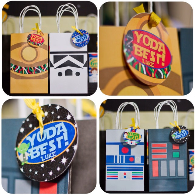 Star Wars Gift Bags Birthday Decor Party