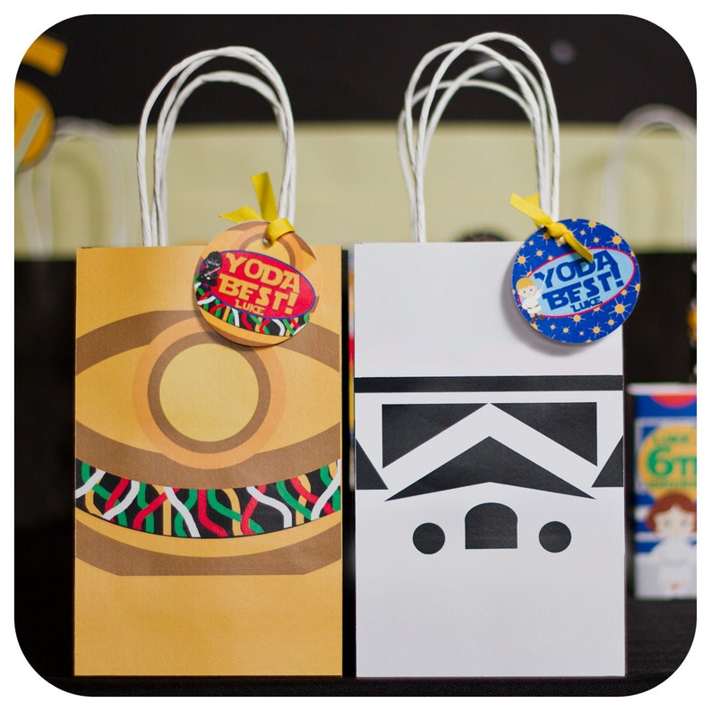 Star Wars Party Gift Bags Birthday Decor