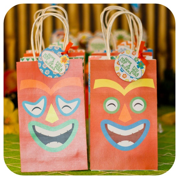 Luau Gift Bags Luau Party Luau Birthday Party Gift Bags Luau
