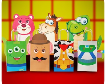 Toy Story; Toy Story Party; Toy Story Birthday Party Premade Gift Bags Printed, Cut, and Shipped to you!