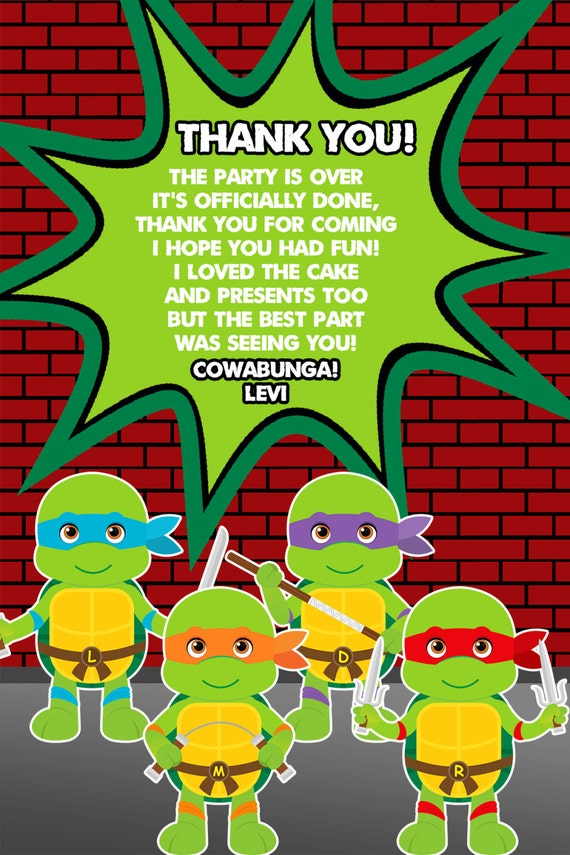 Tmnt Teenage Mutant Ninja Turtles Party Tmnt Birthday Personalized