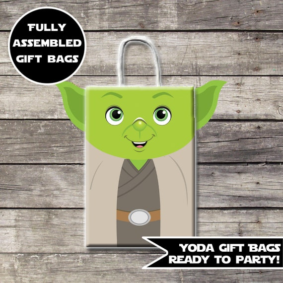 Star Wars Gift Bags Birthday Party Decor Yoda
