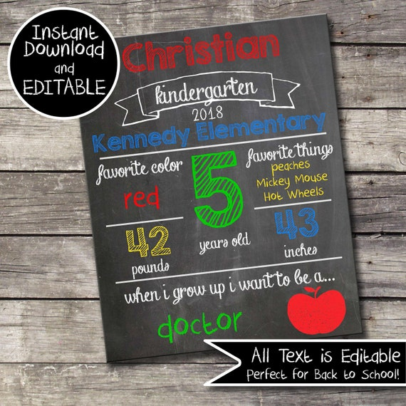Back To School Chalkboard; Back To School Favorites; Back