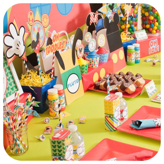 Mickey Mouse Party Ideas Clubhouse Birthday