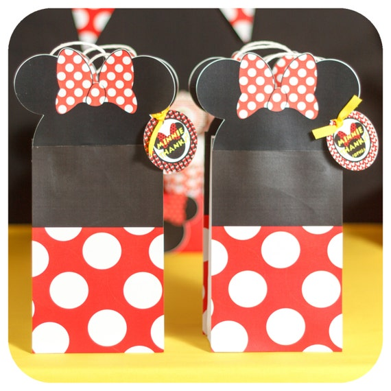 Minnie Mouse Party Birthday Gift Bag Premade And Shipped