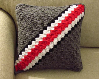 Ohio State Pillow Buckeyes OSU Helmet Crochet Throw Pillow