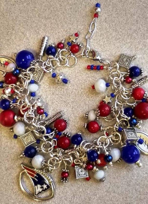 NFL New England Patriots Champions Charms for Bracelet Jewelry Making Pendants
