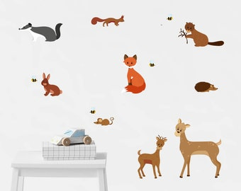 Wall stickers woodland animals - nursery, wall decal, forest room