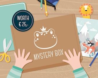 Mystery box illustrations, stationery gift set, surprise box