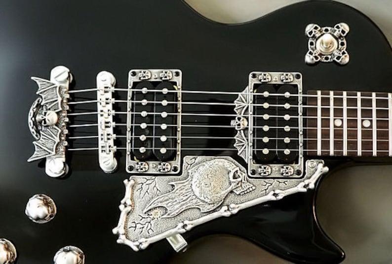 guitar parts pewter hardware skull toggle switch washer etsy. Black Bedroom Furniture Sets. Home Design Ideas