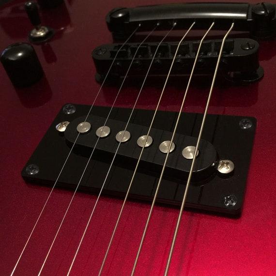 FLUORESCENT RED Guitar Parts Humbucker Pickup Bezel Acrylic MOUNTING RING