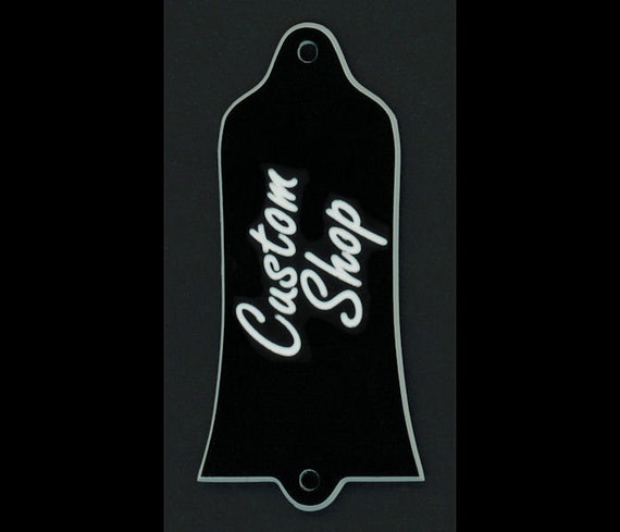 CUSTOM SHOP Black GUITAR TRUSS ROD COVER ESP or LTD Engraved Etched
