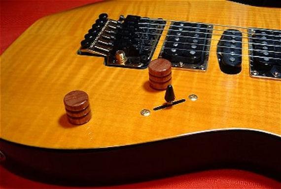guitar parts wood knobs fits gibson fender ibanez etsy. Black Bedroom Furniture Sets. Home Design Ideas