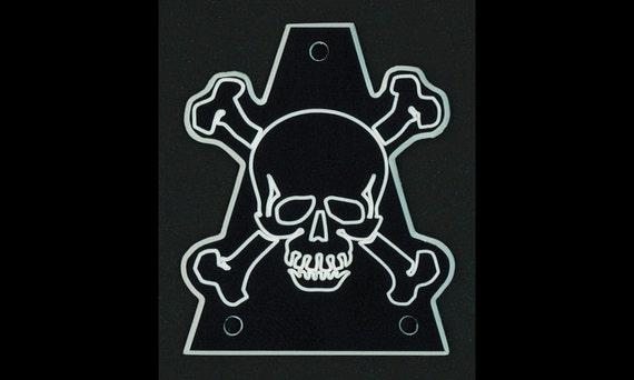 PENTAGRAM 666 BLACK Custom Engraved GUITAR TRUSS ROD COVER Fits JACKSON