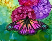 Alcohol Ink Art. Butterfly