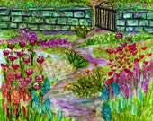 Alcohol Ink Art, Print, Garden