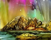 Alcohol Ink Art, Print,  Aurora