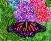 Alcohol ink Art Print,  Butterfly Delight III