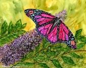 Alcohol ink Art Print,  Butterfly Delight II
