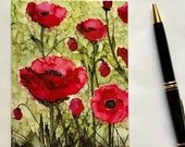 Holiday Sale Note Card, Poppies