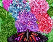 Holiday Sale Alcohol ink Art Print,  Butterfly Delight III