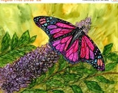 Holiday Sale Alcohol ink Art Print,  Butterfly Delight II