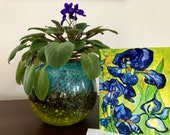 Fine Art Note Card - -VanGogh Iris Detail