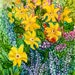 mjr5062 reviewed Alcohol Ink Art Print.  Cottage Garden Daisies.