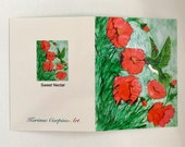 Fine Art Note Card - -Sweet Nectar