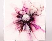 Ceramic Purple Flower Coaster
