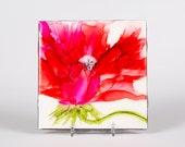 Ceramic Poppy Coaster