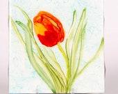 Ceramic Tulip Coaster