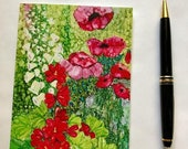 Holiday Sale Note Card, Poppy Garden