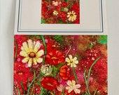 Fine Art Note Card - -Garden Gone Wild II