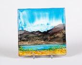 Ceramic Tile Landscape Coaster III