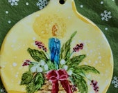 Holiday Sale Alcohol Ink Ornaments.  Christmas candle
