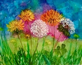 Holiday Sale Note Card, Dandelion Dream