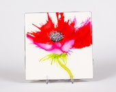Ceramic Poppy Coaster II