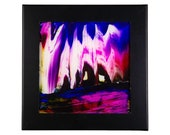 Ceramic Tile Art Abstract City Lights