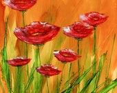 Holiday Sale Alcohol Ink Art, Print, Poppies