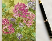 Holiday Sale Note card, Cleome Garden