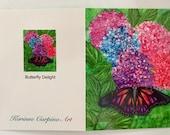 Fine Art Note Card - -Butterfly Delight