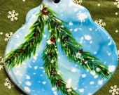 Alcohol Ink Ornaments, Snowy Bough