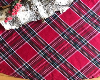 red plaid christmas tree skirts in large size 58 inch