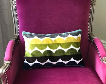 Green Designer Deluxe Chenille wavy pillow case 17x12