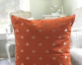 Bee Napoleon Orange Designer pillow case 18x20