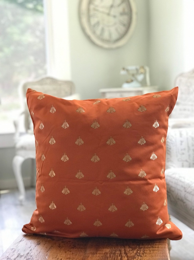 Designer Pillow COVER Bee Napoleon Orange pillow case image 0