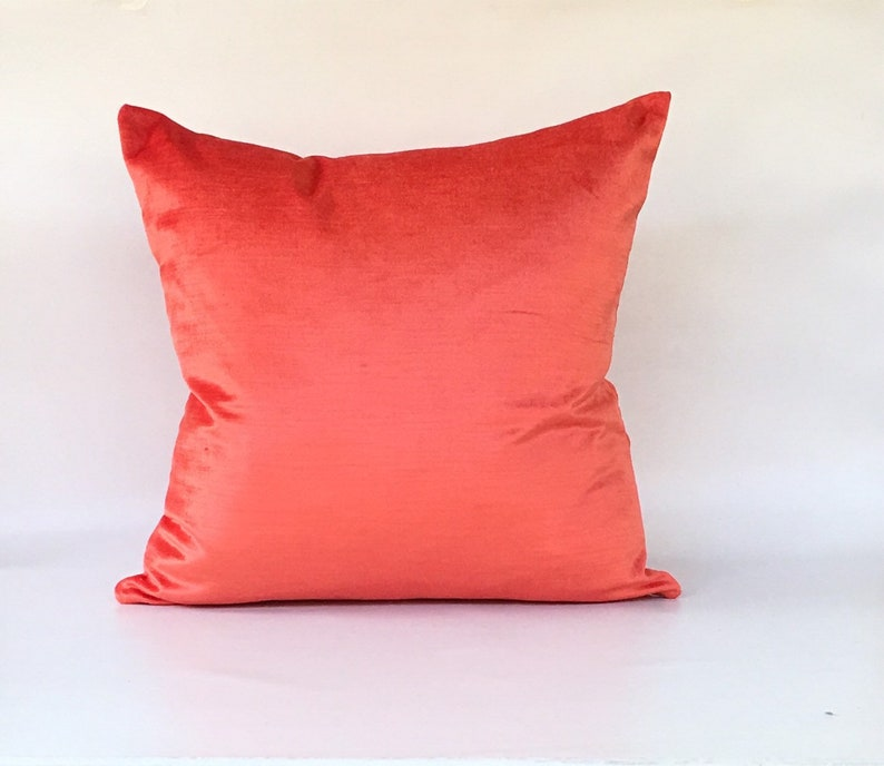 Coral Velvet Designer Pillow COVER case 18x18 image 0