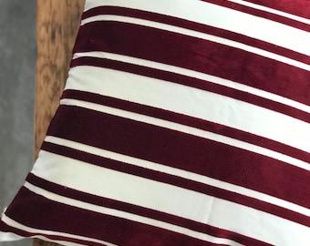Designer Chenille Deluxe Pillow COVER, Burgundy