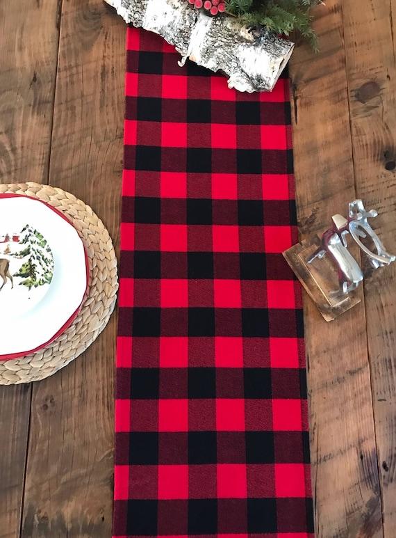 image 0 Buffalo check Table runner Lumberjack party farm | Etsy